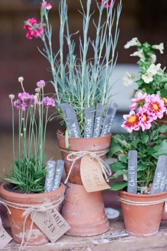 How To Use Potted Plants In Your Wedding Decor: 25 Unique Ideas