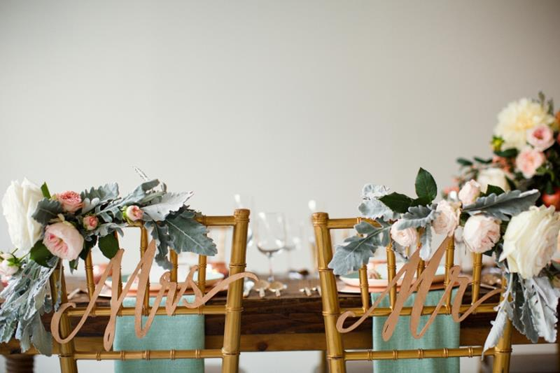 Picture Of mint rose gold wedding shoot three eclectic table designs  13