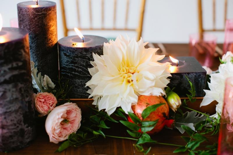 Picture Of mint rose gold wedding shoot three eclectic table designs  22
