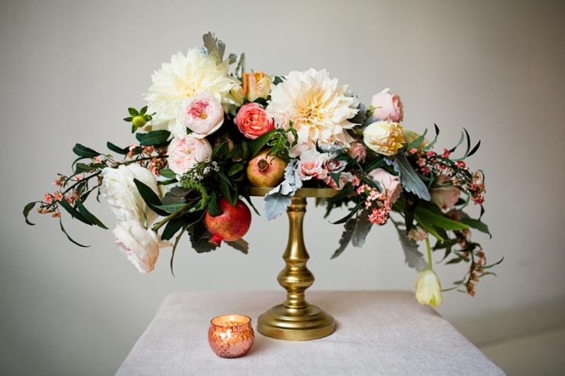 Picture Of mint rose gold wedding shoot three eclectic table designs  8