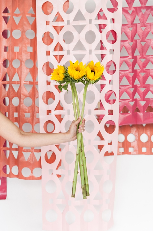 Geometric DIY Papercut Backdrop For A Wedding Or Bridal Shower