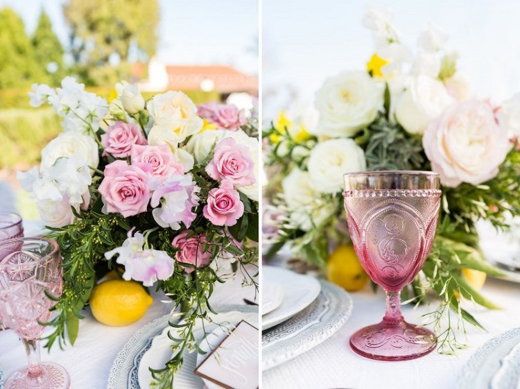 Modern Rose Quartz, Serenity And Yellow Outdoor Wedding Shoot