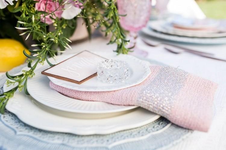 Modern Rose Quartz, Serenity And Yellow Outdoor Wedding Shoot