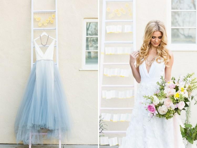 White And Yellow Wedding Dress 3 Elegant Modern Rose Quartz Serenity