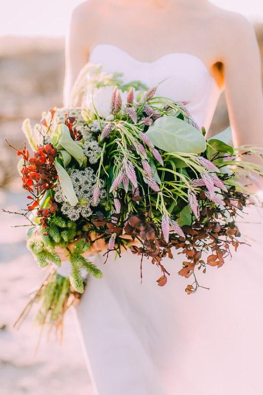 Modern Watercolor Rose Quartz And Serenity Wedding Shoot