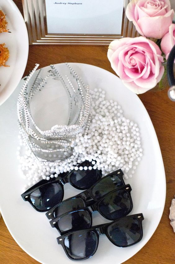 offer your gals sunglasses, pearls and tiaras as favors and to wear the shower party to create an ambience