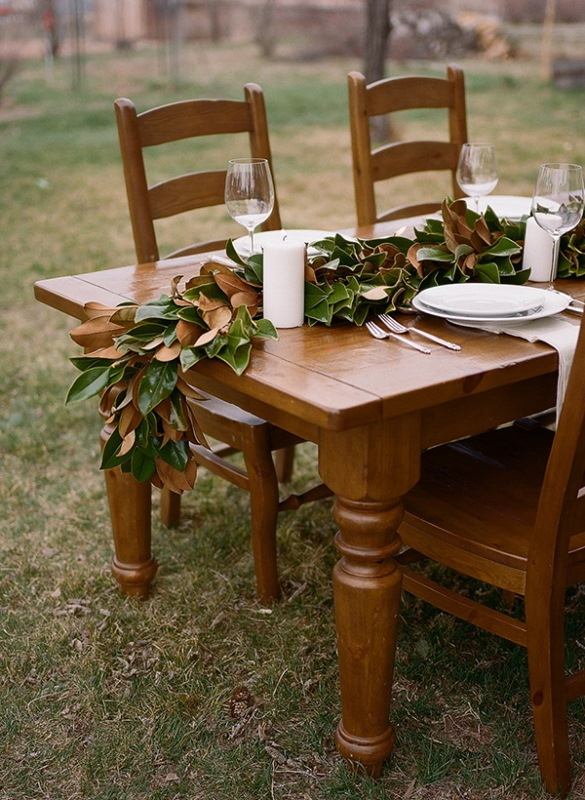 Organic-Inspired DIY Magnolia Leaf Table Runner