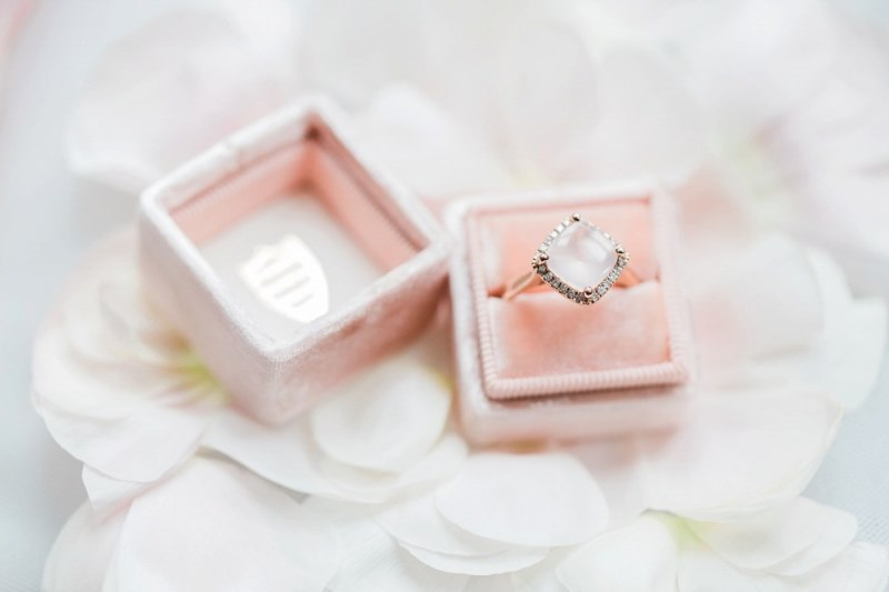 Picture Of rose quartz and serenity bridal shoot at the south farm  16