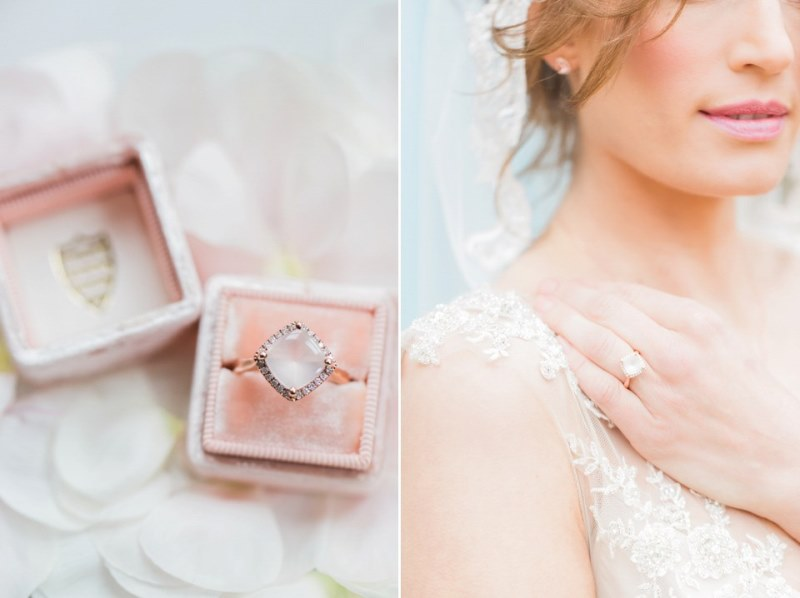 Picture Of rose quartz and serenity bridal shoot at the south farm  17
