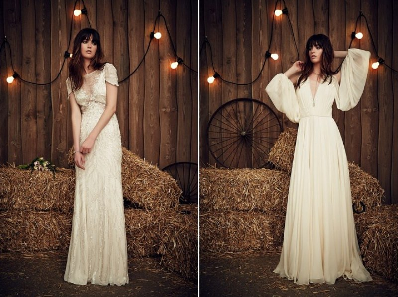 Picture Of rustic glam jenny paсkham 2017 bridal dress collection  14
