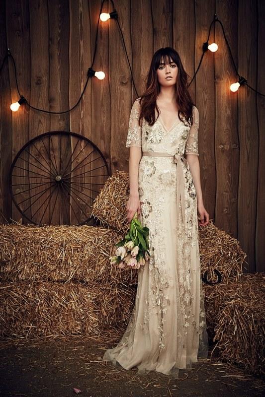 Rustic Wedding Dress 26 Cute Rustic Glam Jenny Packham