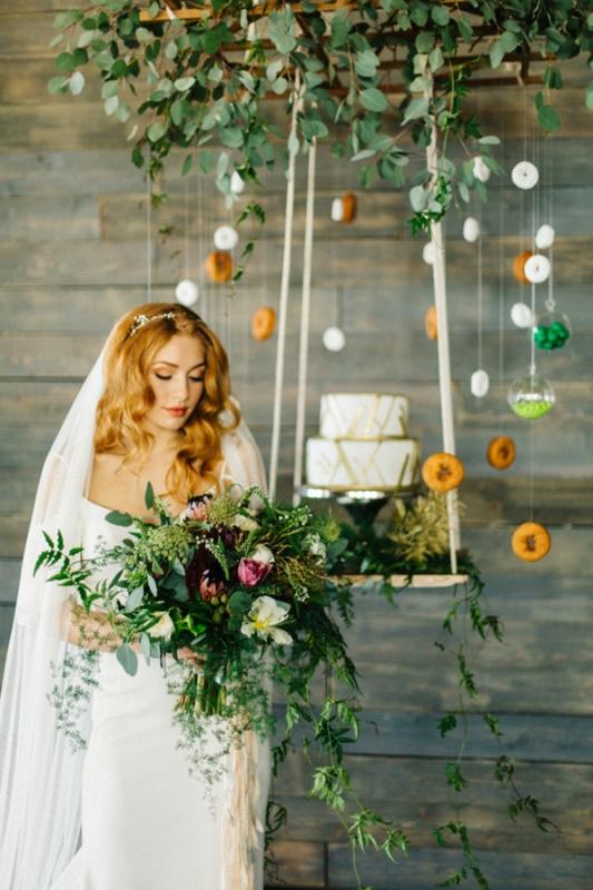 Picture Of whimsical urban garden wedding shoot  1