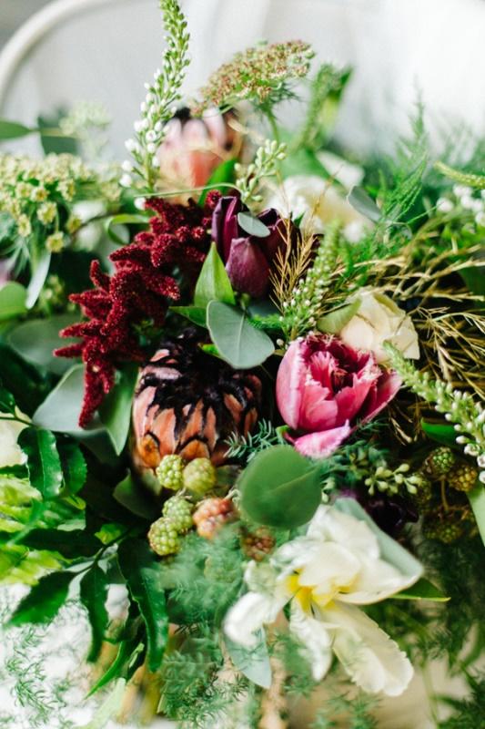 Picture Of whimsical urban garden wedding shoot  3