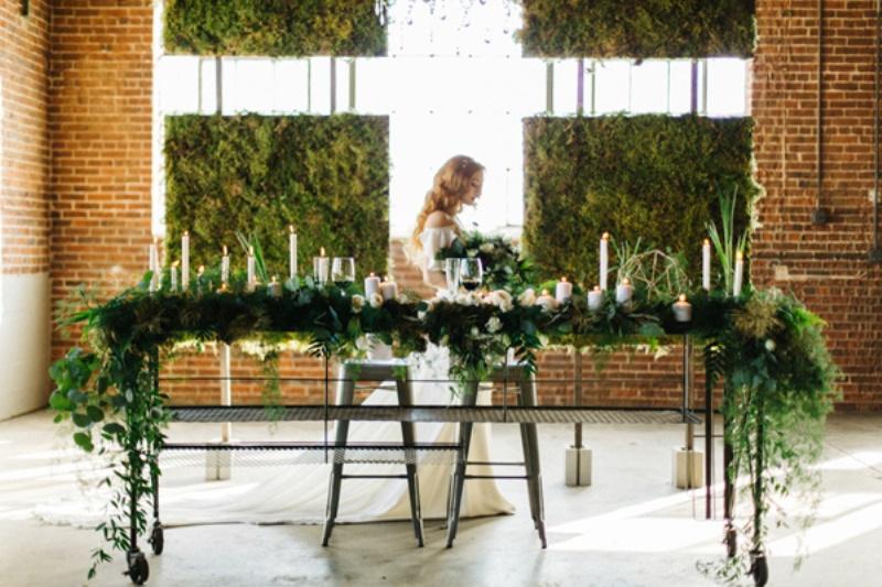 Picture Of whimsical urban garden wedding shoot  9