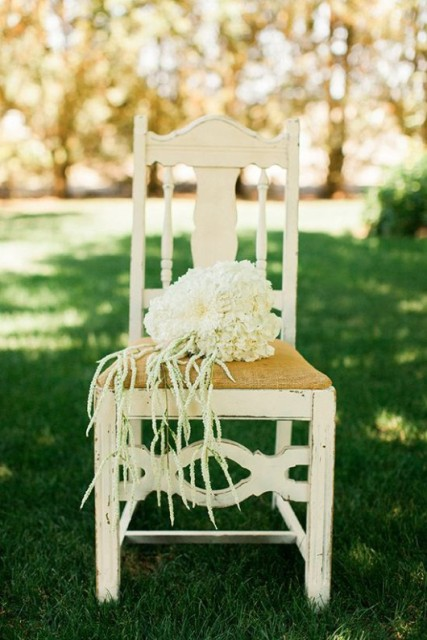 white hydrangeas and greenery are great for a cowgirl bridal shower, these are very rustic blooms