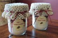 jars with handmade cookies – cowgirl's ones are a fun idea for bridal shower favors