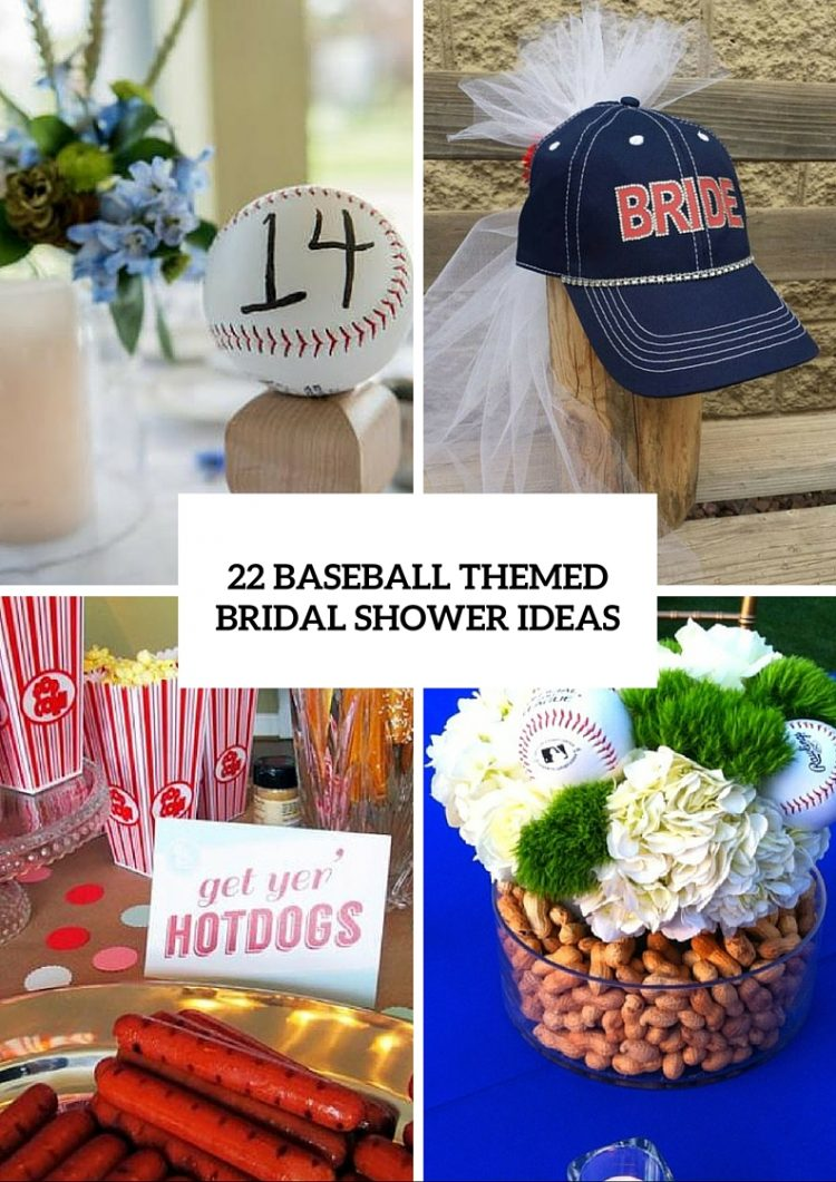 Cool Baseball Themed Bridal Shower Ideas