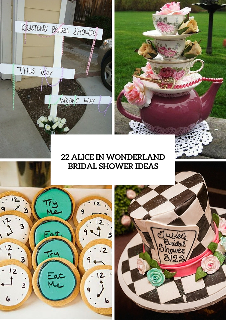 Fairy Alice In Wonderland Themed Bridal Shower Ideas