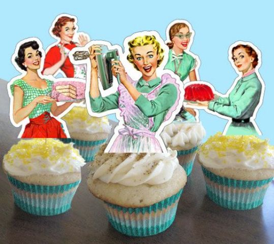 picture of retro housewife bridal shower ideas 12