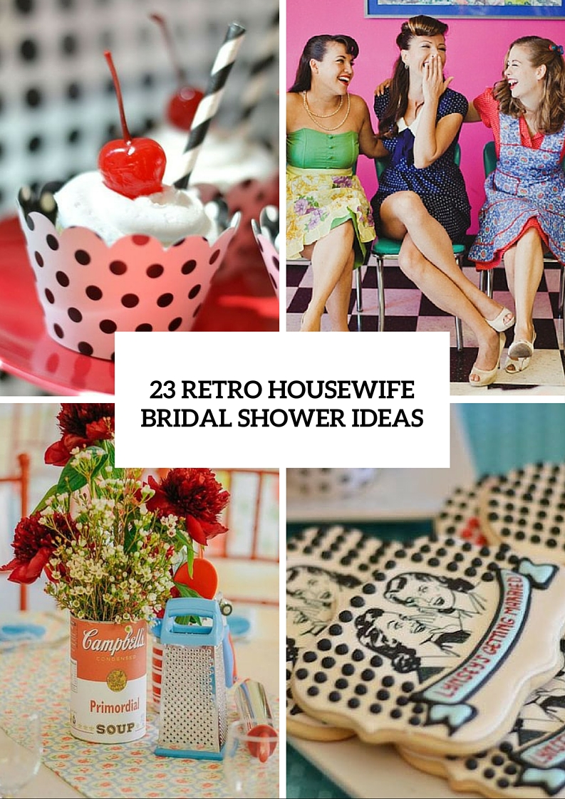 Picture Of Retro Housewife Bridal Shower Ideas 24