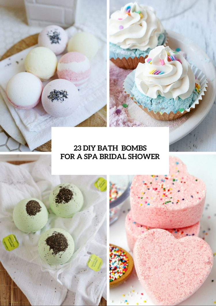 23 diy bath bombs for a girls only spa bridal shower