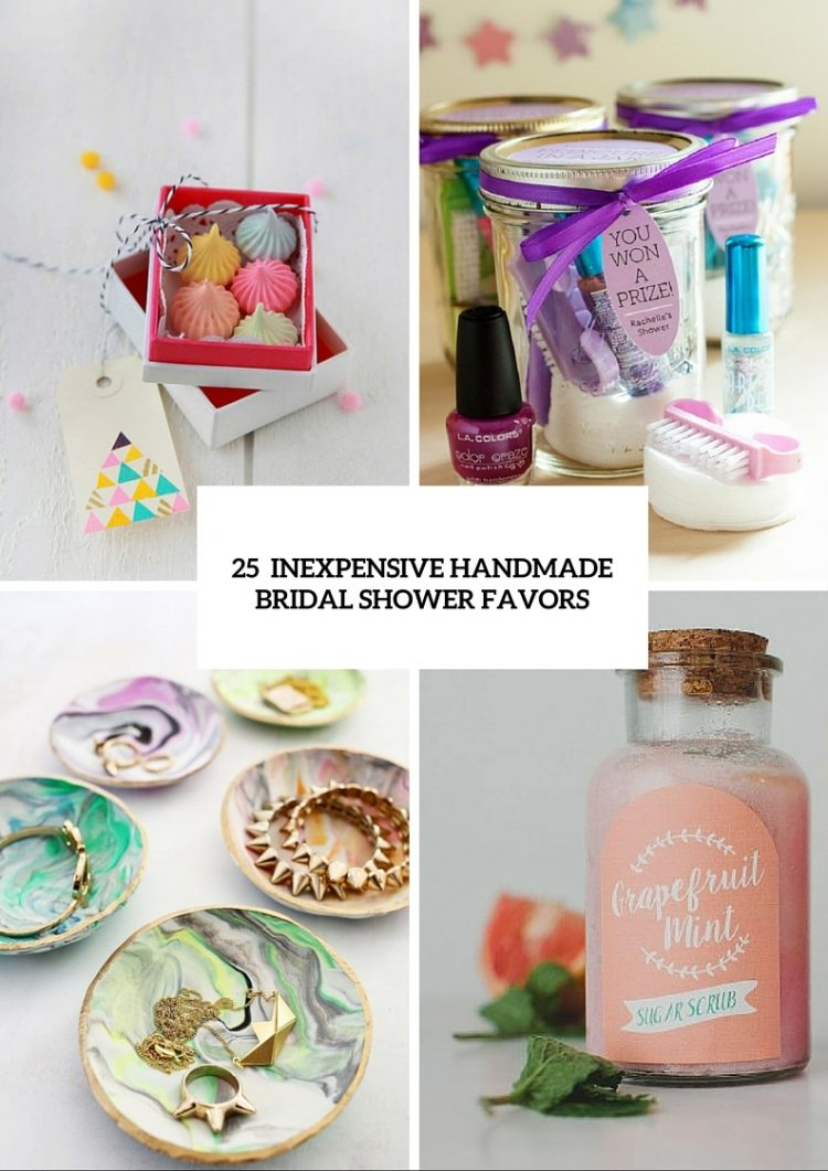 25 Inexpensive Yet Cute Handmade Bridal Shower Favors - Weddingomania