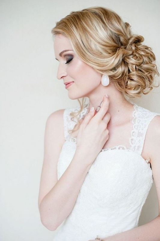 Picture Of chic messy chignon wedding hairstyles  10