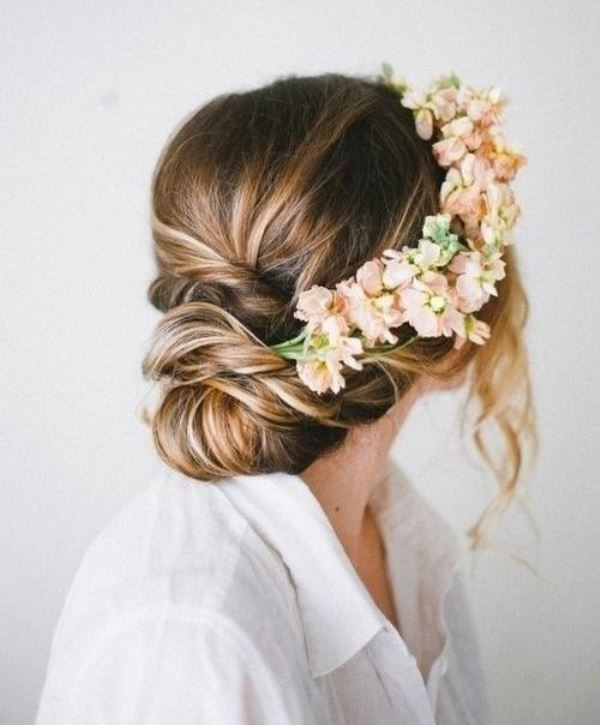 Picture Of chic messy chignon wedding hairstyles  12