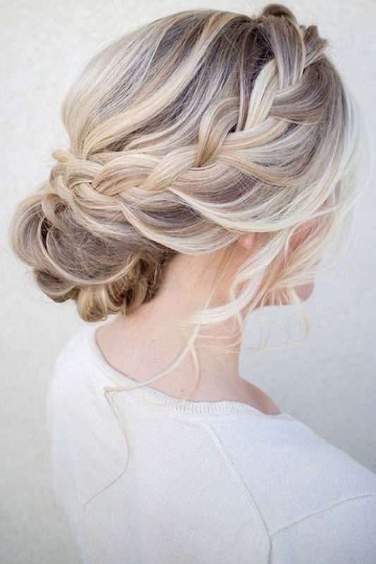 Picture Of chic messy chignon wedding hairstyles  13