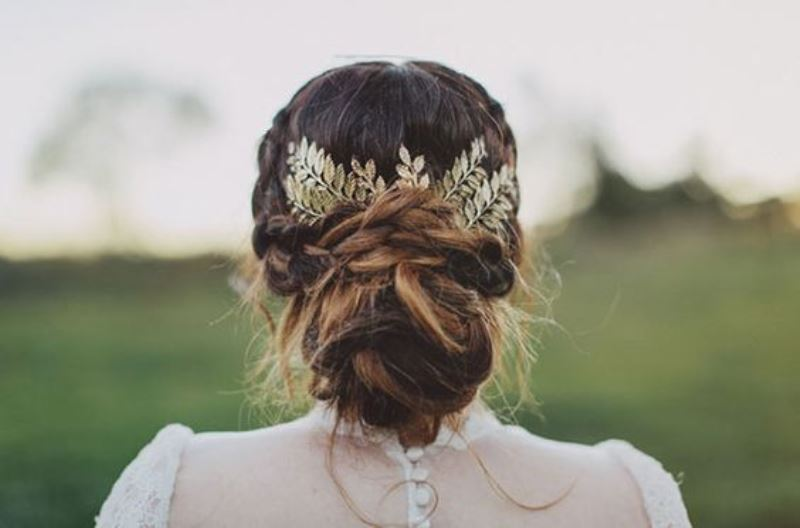 Picture Of chic messy chignon wedding hairstyles  15