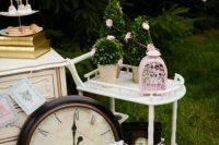 Alice in Wonderland bridal shower decor idea