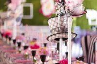 Alice in Wonderland bridal shower table idea