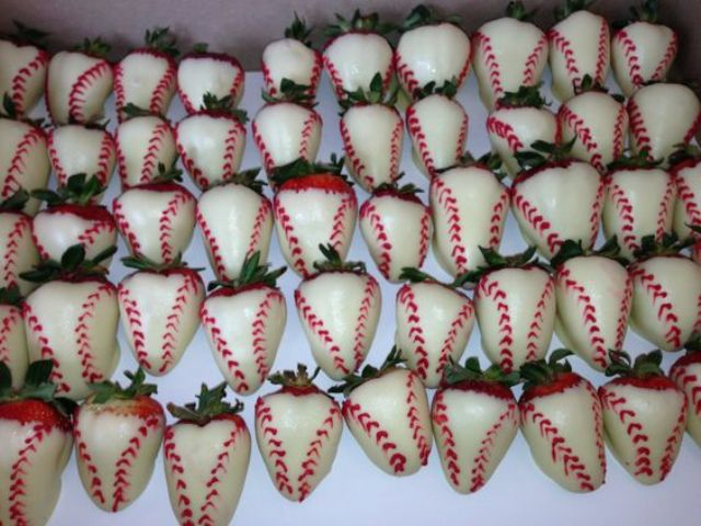 Appetizers for baseball themed bridal shower