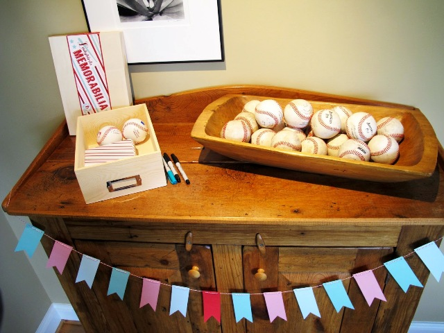 Baseball bridal shower decor ideas