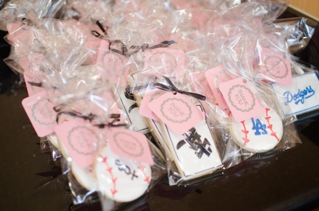 Baseball bridal shower favors