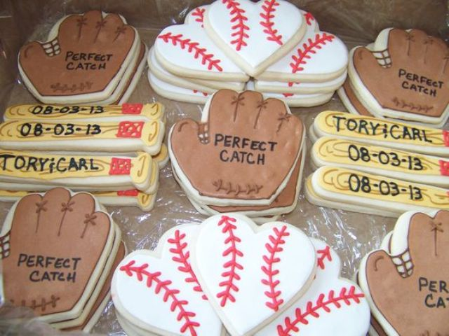 Baseball themed cookies