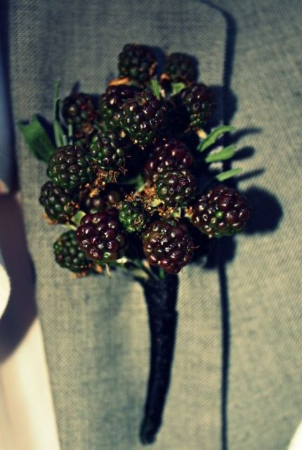 Blackberry boutonniere