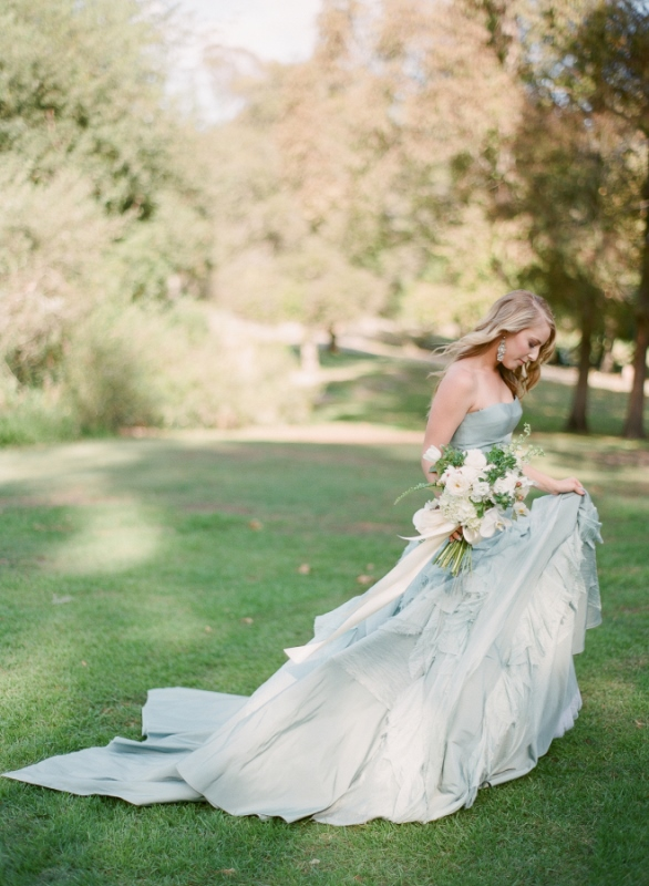 Blue Ball Gown By Tara La Tour