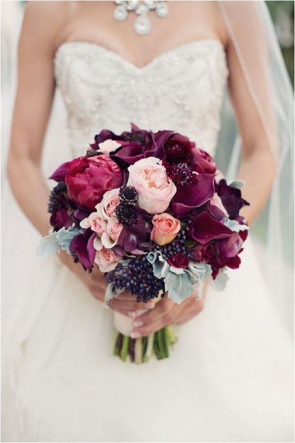 Bridal blackberry bouquet