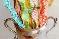 Colorful DIY Origami Wedding Wishes