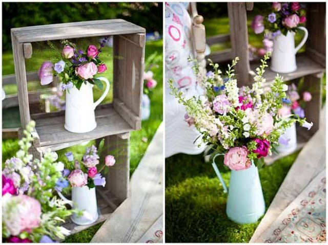 Modern And Vintage Wedding Decorations With Jugs Ideas