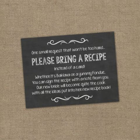 cooking themed bridal shower invitation