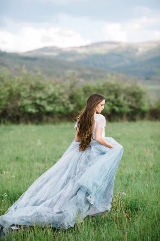 Custom Hand painted Serenity Wedding Dress By Chantel Lauren Designs