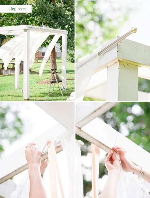 Cute DIY Floral Pergola For Outdoor Weddings