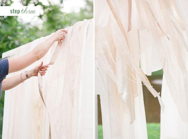 Cute DIY Floral Pergola For Outdoor Weddings
