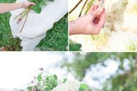 Cute DIY Floral Pergola For Outdoor Weddings 6