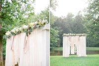Cute DIY Floral Pergola For Outdoor Weddings 7