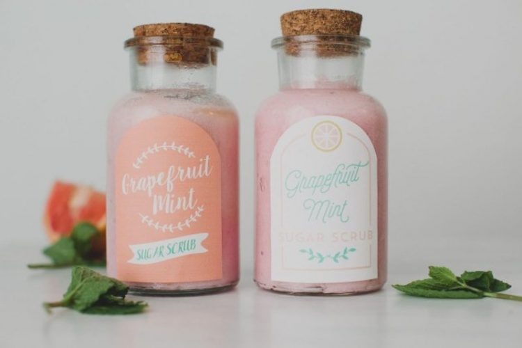 DIY Grapefruit Mint Sugar Scrub Favors