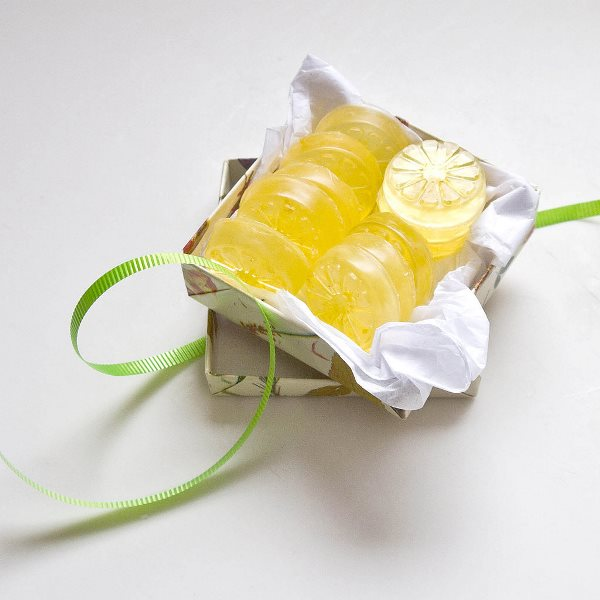 DIY Lemon Soap Bridal Shower Favors