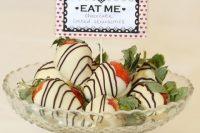 Desserts for Alice in Wonderland bridal shower